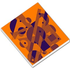 Orange and blue abstract design Small Memo Pads