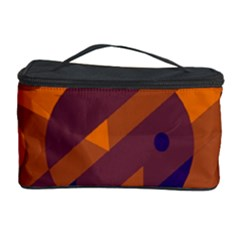Orange and blue abstract design Cosmetic Storage Case