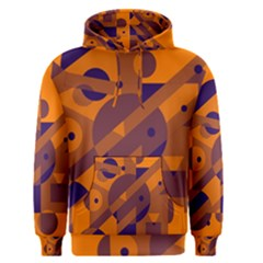 Orange and blue abstract design Men s Pullover Hoodie