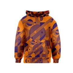 Orange and blue abstract design Kids  Pullover Hoodie