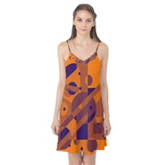 Orange and blue abstract design Camis Nightgown
