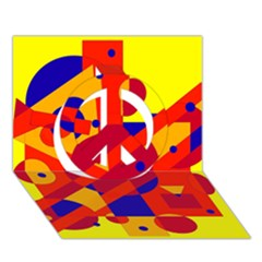 Colorful abstraction Peace Sign 3D Greeting Card (7x5)