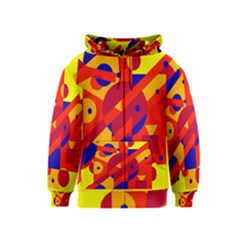 Colorful abstraction Kids  Zipper Hoodie