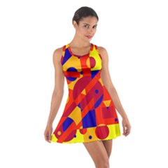 Colorful abstraction Racerback Dresses