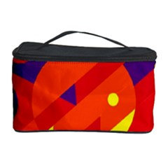 Blue and orange abstract design Cosmetic Storage Case