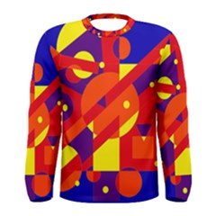 Blue and orange abstract design Men s Long Sleeve Tee