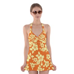 Sunny Hawaiian Halter Swimsuit Dress