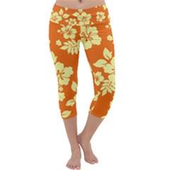 Sunny Hawaiian Capri Yoga Leggings