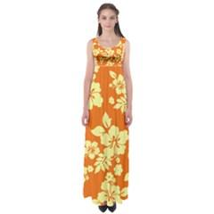 Sunny Hawaiian Empire Waist Maxi Dress