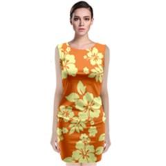 Sunny Hawaiian Classic Sleeveless Midi Dress