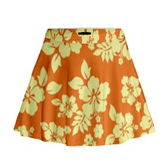 Sunny Hawaiian Mini Flare Skirt