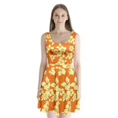 Sunny Hawaiian Split Back Mini Dress