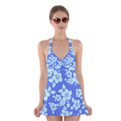 Hawaiian Sky Halter Swimsuit Dress