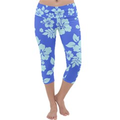Hawaiian Sky Capri Yoga Leggings
