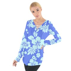Hawaiian Sky Women s Tie Up Tee