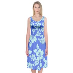 Hawaiian Sky Midi Sleeveless Dress