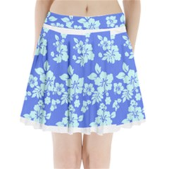 Hawaiian Sky Pleated Mini Mesh Skirt
