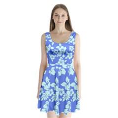 Hawaiian Sky Split Back Mini Dress