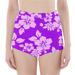 Hawaiian Sunset High-Waisted Bikini Bottoms