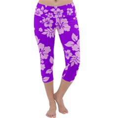 Hawaiian Sunset Capri Yoga Leggings