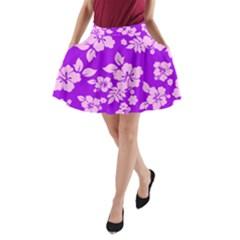 Hawaiian Sunset A-Line Pocket Skirt