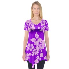 Hawaiian Sunset Short Sleeve Tunic