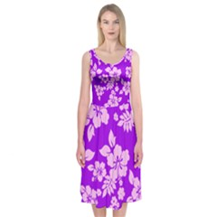 Hawaiian Sunset Midi Sleeveless Dress