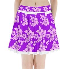 Hawaiian Sunset Pleated Mini Mesh Skirt