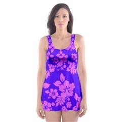 Hawaiian Evening Skater Dress Swimsuit