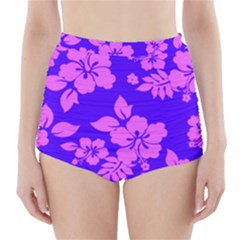 Hawaiian Evening High-Waisted Bikini Bottoms