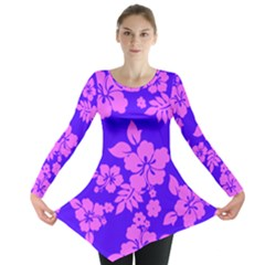 Hawaiian Evening Long Sleeve Tunic