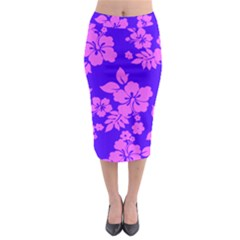 Hawaiian Evening Midi Pencil Skirt