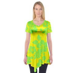 Bright Hawaiian Short Sleeve Tunic