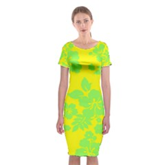 Bright Hawaiian Classic Short Sleeve Midi Dress