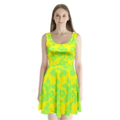 Bright Hawaiian Split Back Mini Dress