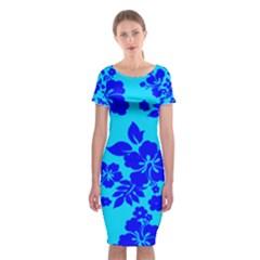 Hawaiian Ocean Classic Short Sleeve Midi Dress
