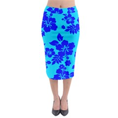 Hawaiian Ocean Midi Pencil Skirt