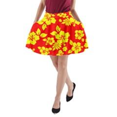 Hawaiian Sunshine A Line Pocket Skirt