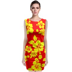 Hawaiian Sunshine Classic Sleeveless Midi Dress