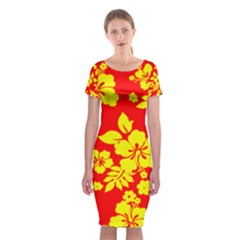 Hawaiian Sunshine Classic Short Sleeve Midi Dress