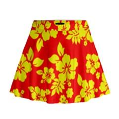 Hawaiian Sunshine Mini Flare Skirt