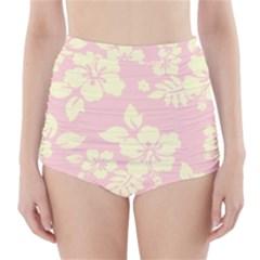 Pastel Hawaiian High Waisted Bikini Bottoms