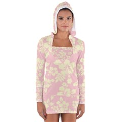 Pastel Hawaiian Women s Long Sleeve Hooded T-shirt
