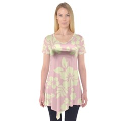Pastel Hawaiian Short Sleeve Tunic
