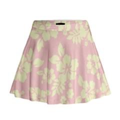 Pastel Hawaiian Mini Flare Skirt