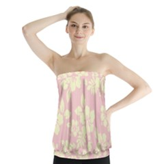 Pastel Hawaiian Strapless Top