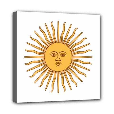 Argentina Sun of May  Mini Canvas 8  x 8