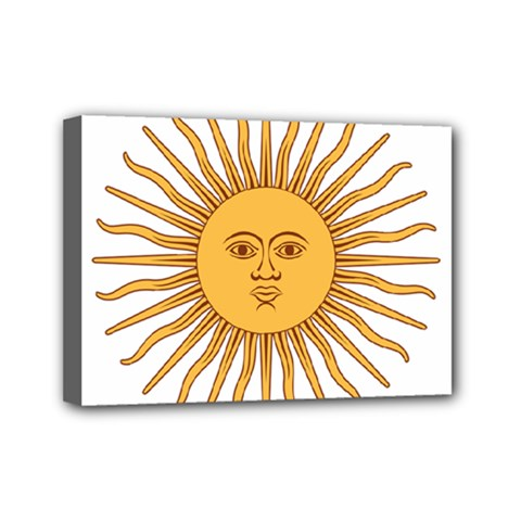 Argentina Sun of May  Mini Canvas 7  x 5