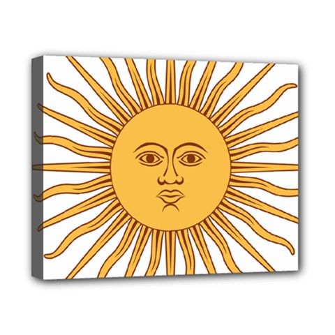Argentina Sun of May  Canvas 10  x 8