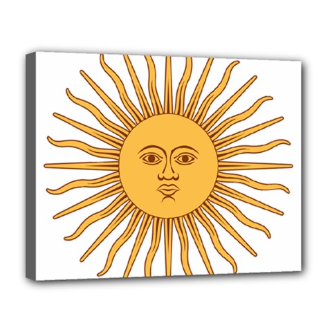 Argentina Sun of May  Canvas 14  x 11
